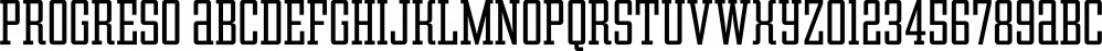 Progreso font family by CastleType