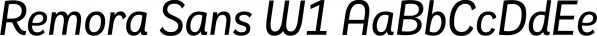 Remora Sans W1 font family by G-Type