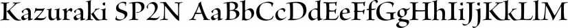 Kazuraki SP2N font family by Adobe