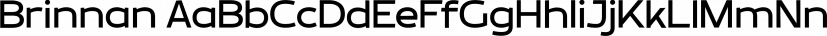 Brinnan font family by Typogama