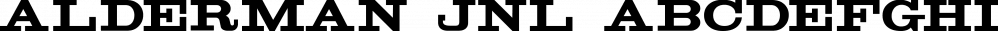 Alderman JNL font family by Jeff Levine Fonts