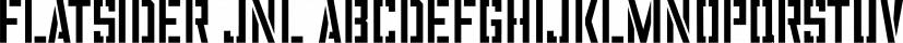 Flatsider JNL font family by Jeff Levine Fonts