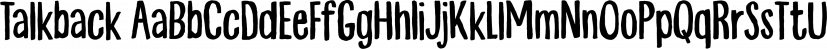 Talkback font family by Bogstav