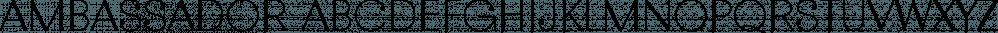 Ambassador font family by Juraj Chrastina