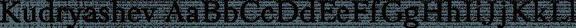Kudryashev font family by ParaType
