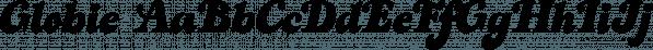 Globie font family by Eurotypo