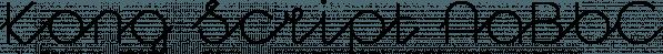 Kong Script font family by Talbot Type