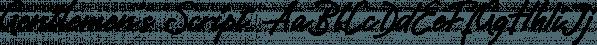 Gentlemen's Script font family by Pinata