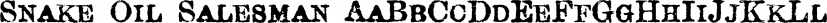 Snake Oil Salesman font family by Blambot