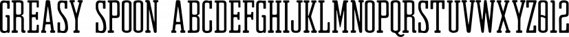 Greasy Spoon font family by RetroSupply Co.