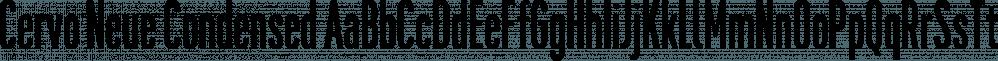 Cervo Neue Condensed font family by Typoforge Studio