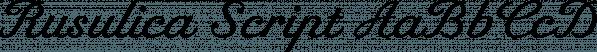 Rusulica Script font family by Type Fleet