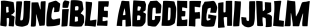Runcible font family mini