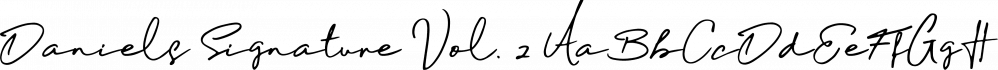 Daniels Signature Vol. 2 font family by madeDeduk