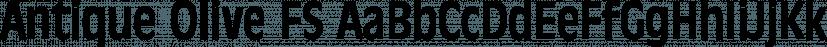 Antique Olive FS font family by FontSite Inc.