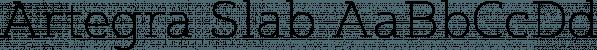 Artegra Slab font family by Artegra