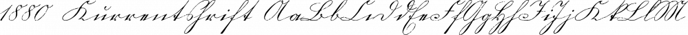 1880 Kurrentshrift font family by GLC Foundry