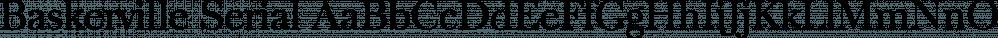 Baskerville Serial font family by SoftMaker