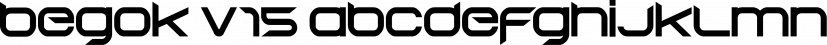 Begok V15 font family by Qbotype Fonts