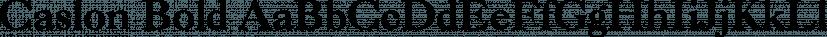 Caslon Bold font family by ParaType