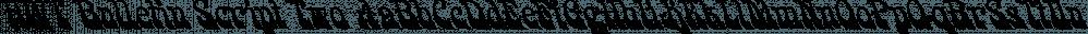 HWT Bulletin Script Two font family by Hamilton Wood Type