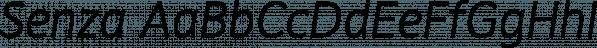 Senza font family by Blackmoon Foundry