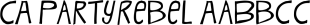 CA PartyRebel font family mini