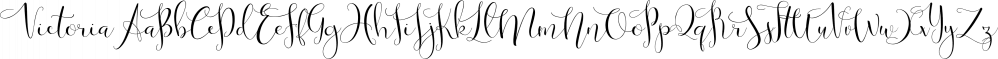 Victoria font family by mysunday