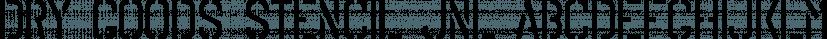 Dry Goods Stencil JNL font family by Jeff Levine Fonts