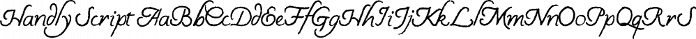 Handly Script font family by Tom Chalky