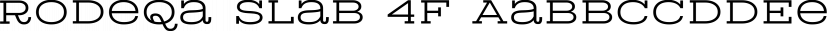 Rodeqa Slab 4F font family by 4th february