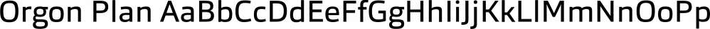 Orgon Plan font family by Hoftype