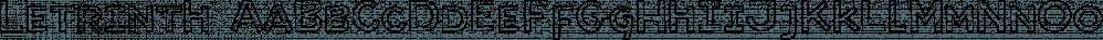 Letrinth font family by Ingrimayne Type