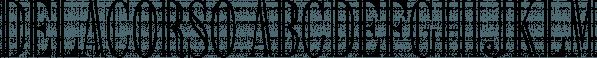 Delacorso font family by Sharkshock
