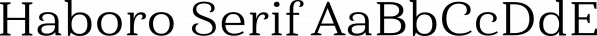 Haboro Serif font family by Insigne Design