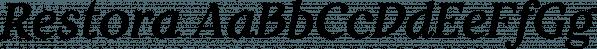 Restora font family by Nasir Udin