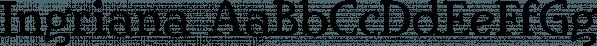 Ingriana font family by Ingrimayne Type