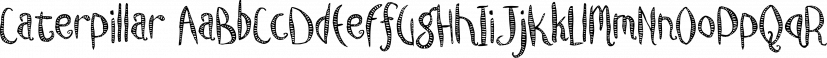 Caterpillar font family by Fonthead Design