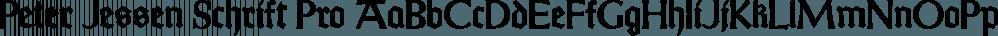 Peter Jessen Schrift Pro font family by SoftMaker