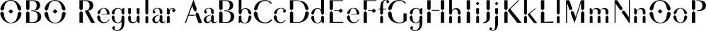 OBO Regular font family by Wilton Foundry