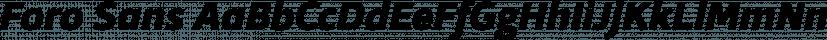 Foro Sans font family by Hoftype