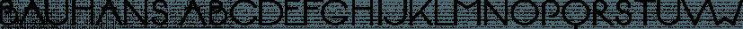BAUHANS font family by driemeyerdesign