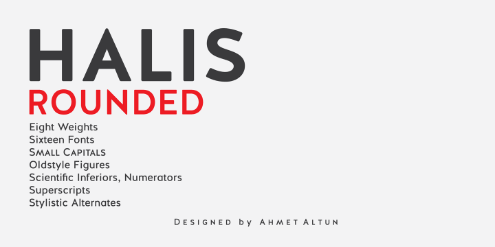 Halis Rounded font family by Ahmet Altun