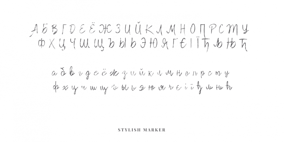 Download Stylish Marker Font Family