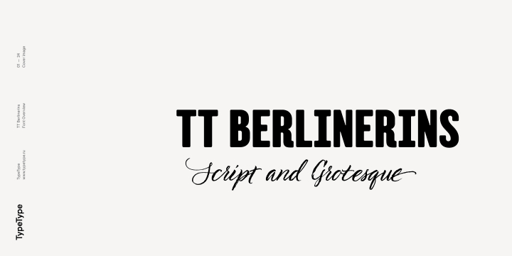 TT Berlinerins font family by Typetype